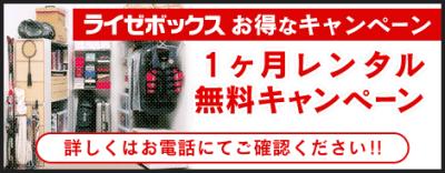 1ヶ月間レンタル料無料!【 関東圏 】