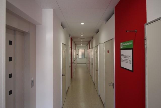我孫子前駅東ライゼボックスの廊下